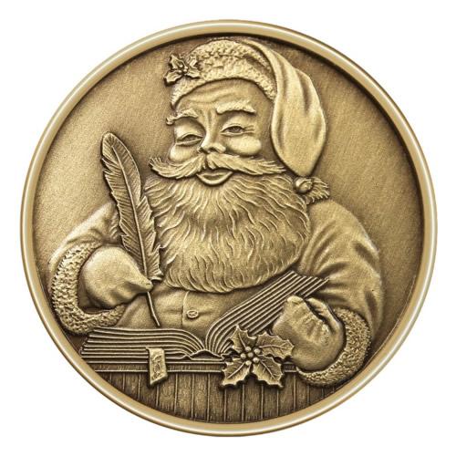 Christmas Bronze 2013 Santas List 1oz X-9