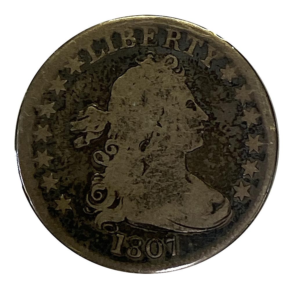 Draped Bust Quarter 1807 VG (B)