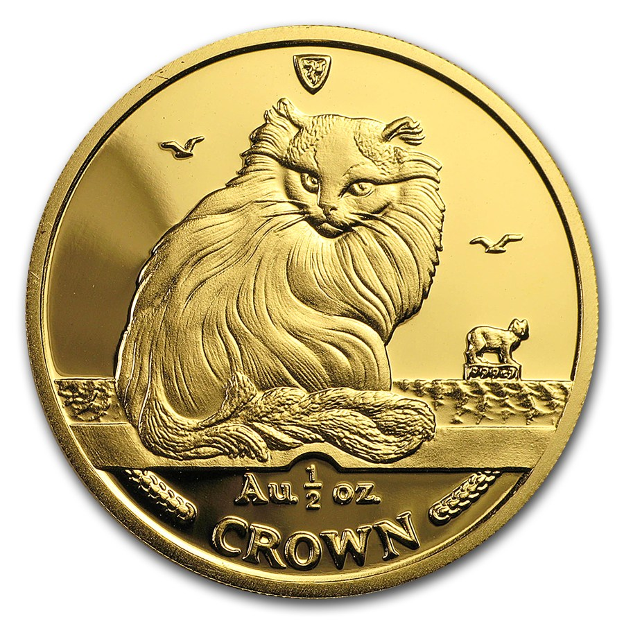 Isle of Man Gold Cat Half Ounce 1995
