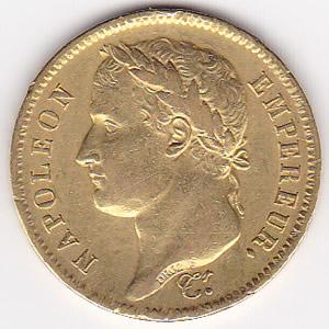 France 40 francs gold 1809-1813 Napoleon