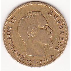 France 10 francs gold 1855-1860 F-VF