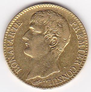 France 40 francs gold  Napoleon I