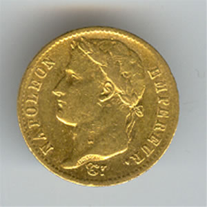 France Napoleon I gold 20 francs (dates of our choice)