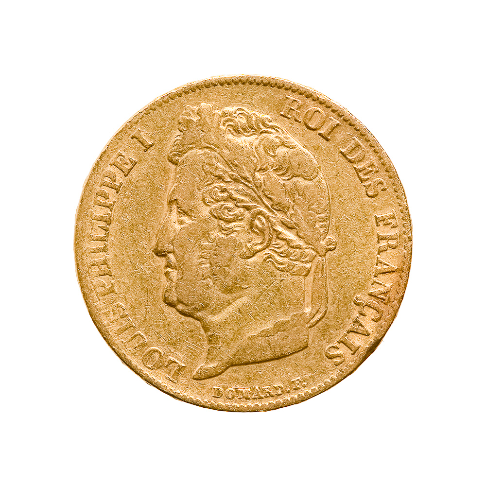 France 20 francs Louis Philippe I gold coin, 1832-1848