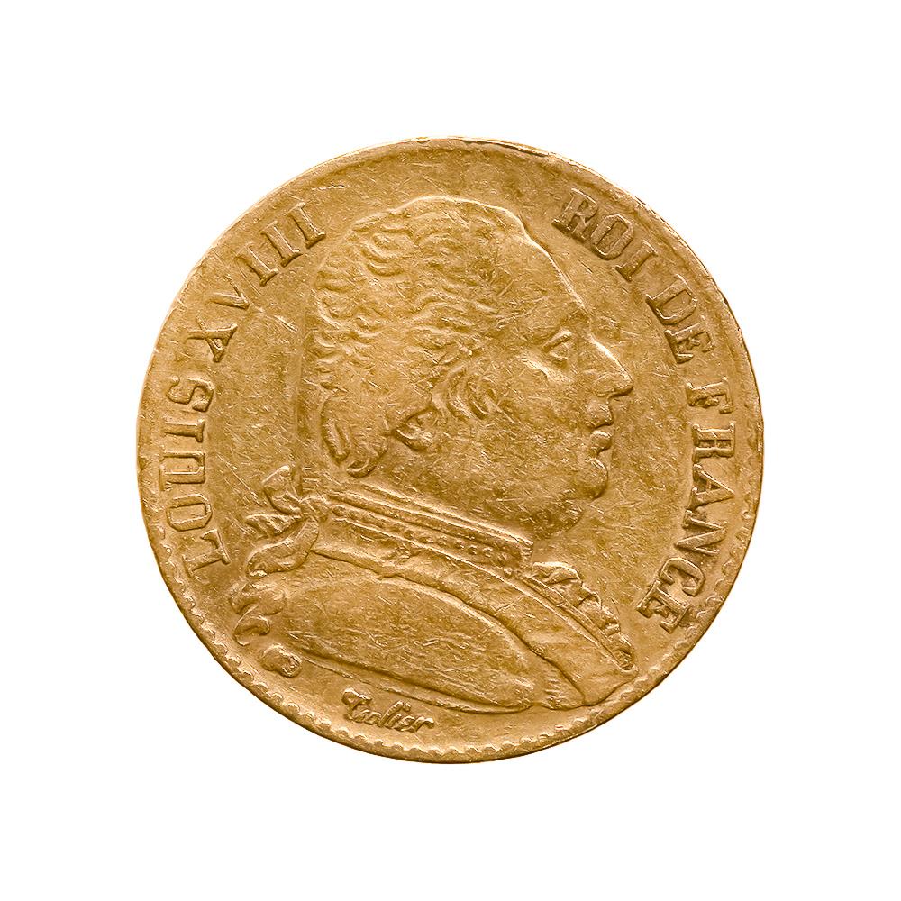 France 20 francs gold 1816-1824, Louis XVIII