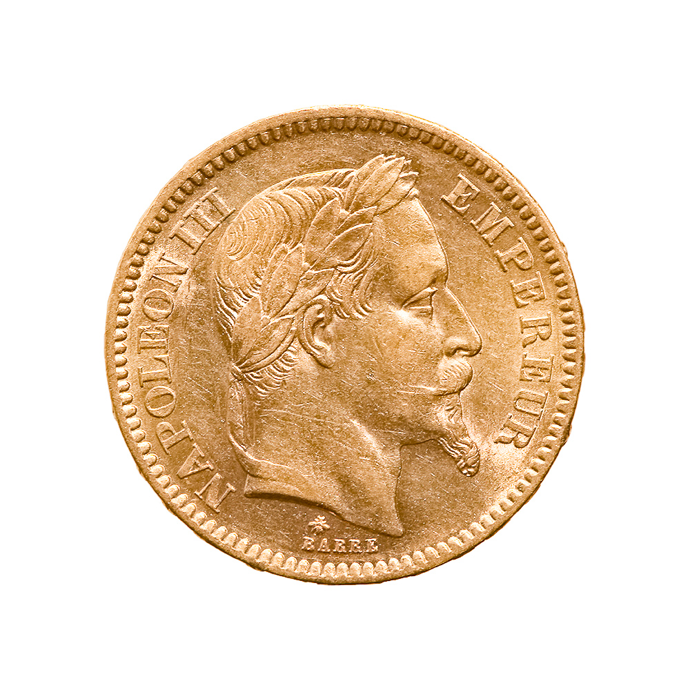 France 20 Francs Napoleon III Gold Coin 1853-1870
