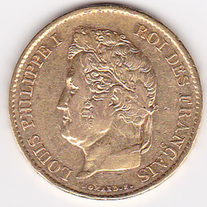 France 40 francs gold Louis Philippe I 1831-1838