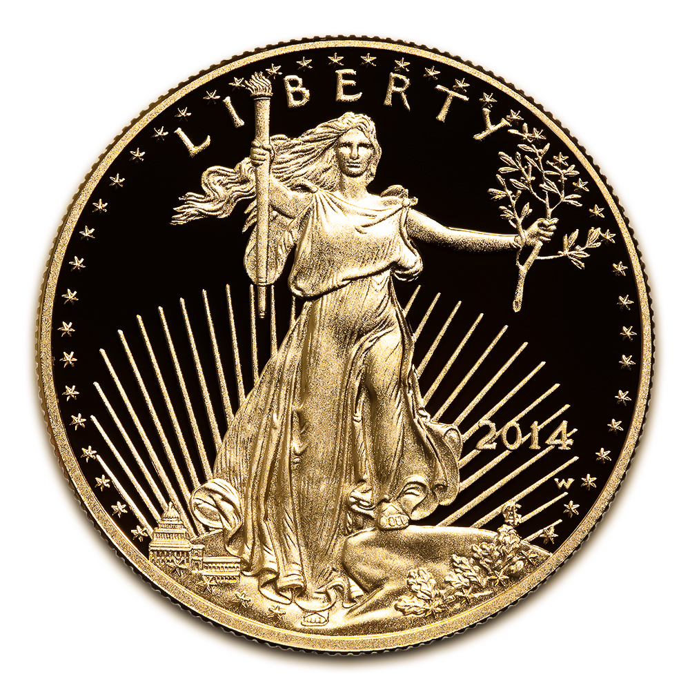 Proof American Gold Eagle One Ounce - In Capsule (Dates Our Choice)