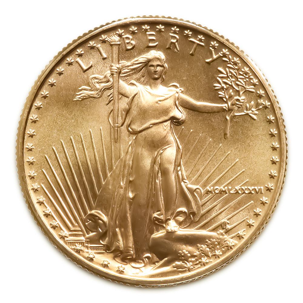 1986 American Gold Eagle 1/10 oz Uncirculated