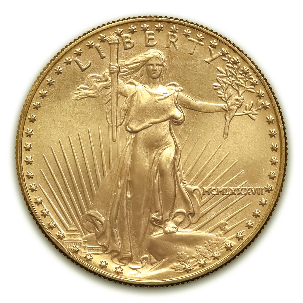 1987 American Gold Eagle 1/2 oz Uncirculated