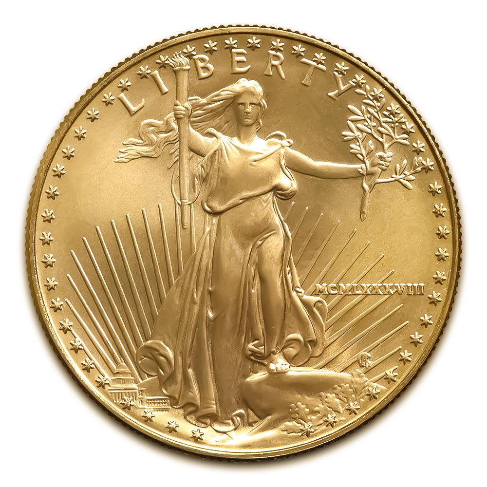 1988 American Gold Eagle 1/10 oz Uncirculated