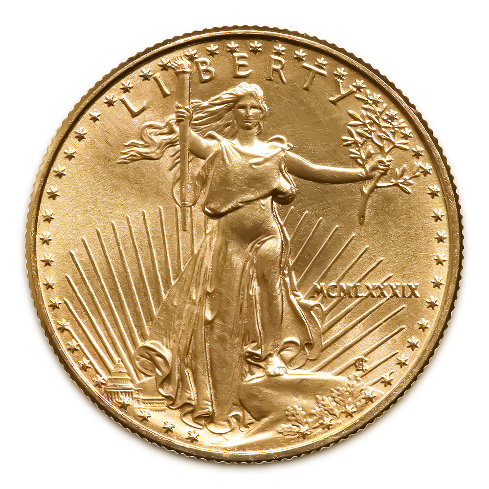 1989 American Gold Eagle 1/10 oz Uncirculated