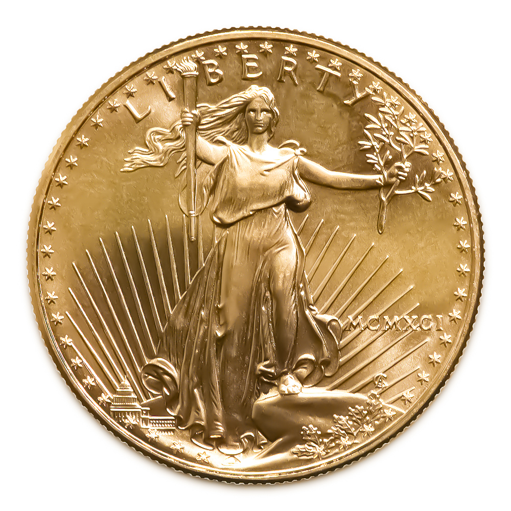 1991 American Gold Eagle 1/10 oz Uncirculated