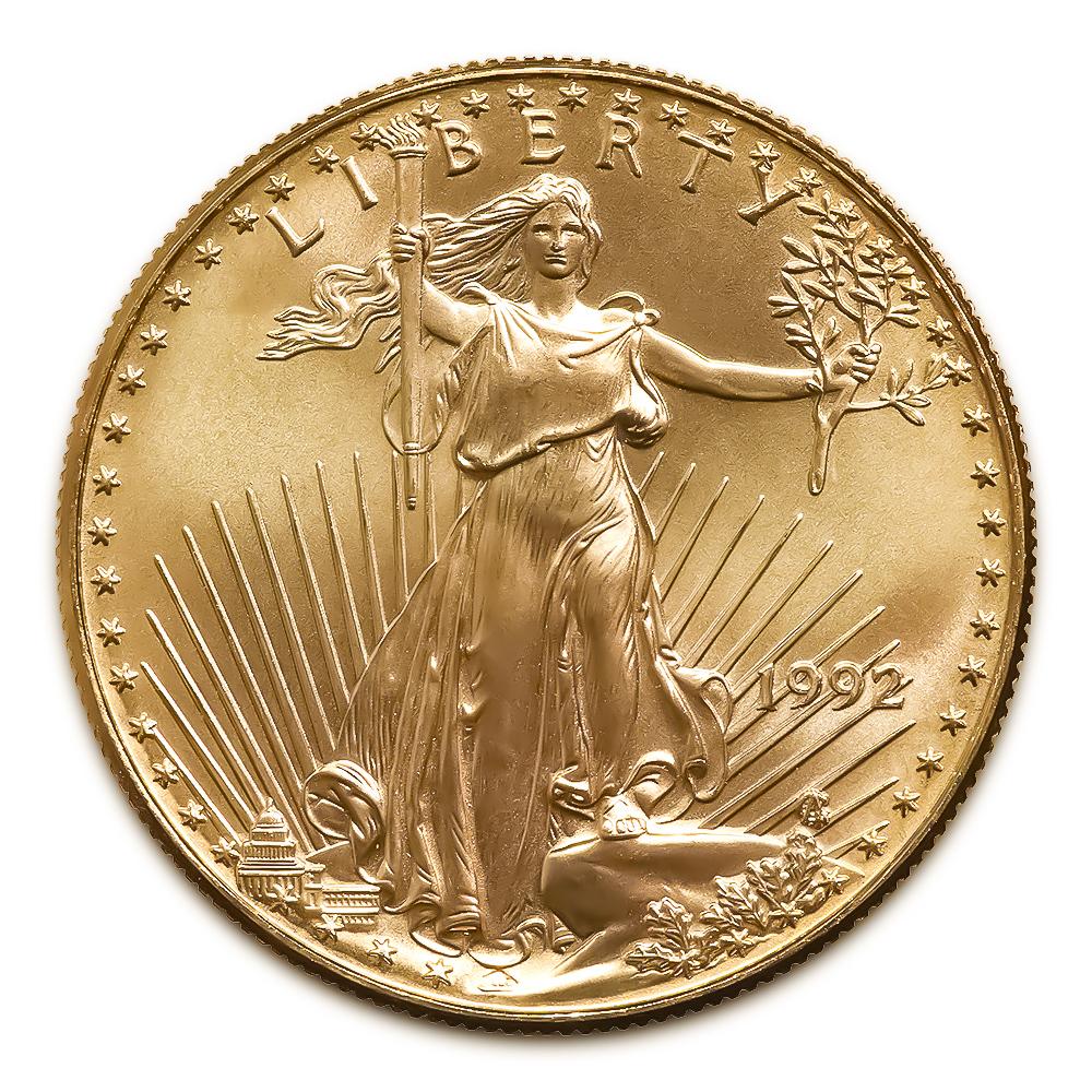 1992 American Gold Eagle 1/10 oz Uncirculated