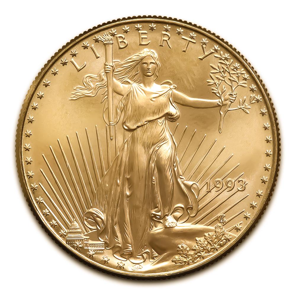 1993 American Gold Eagle 1/2 oz Uncirculated