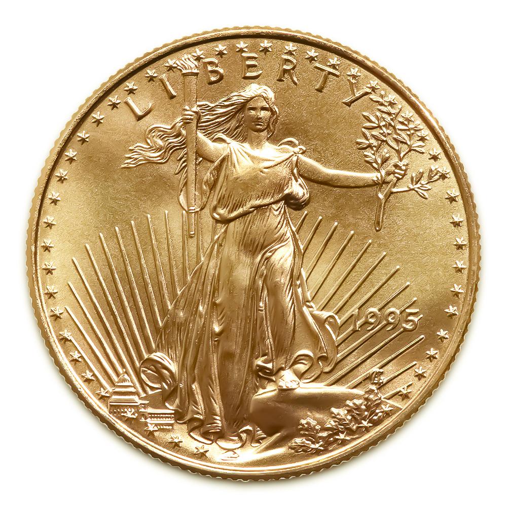 1995 American Gold Eagle 1/4 oz Uncirculated
