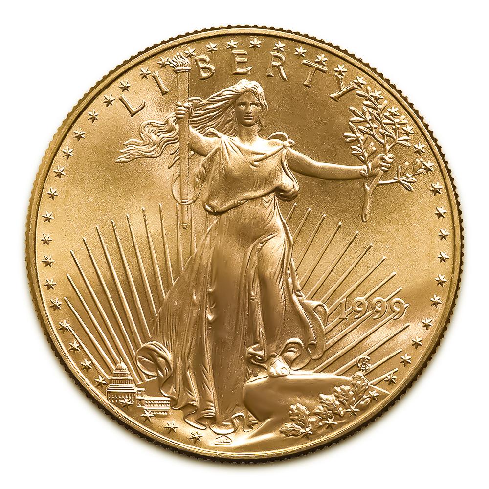 1999 American Gold Eagle 1/10 oz Uncirculated