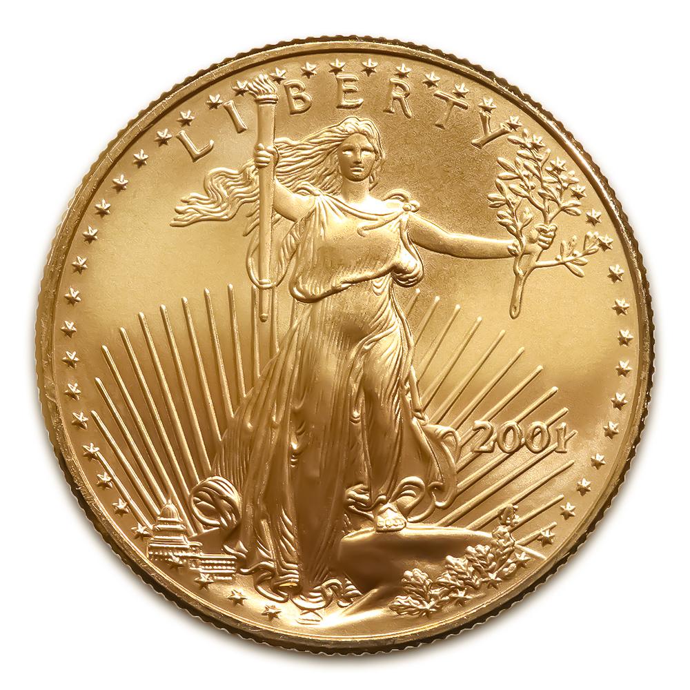 2001 American Gold Eagle 1/4 oz Uncirculated