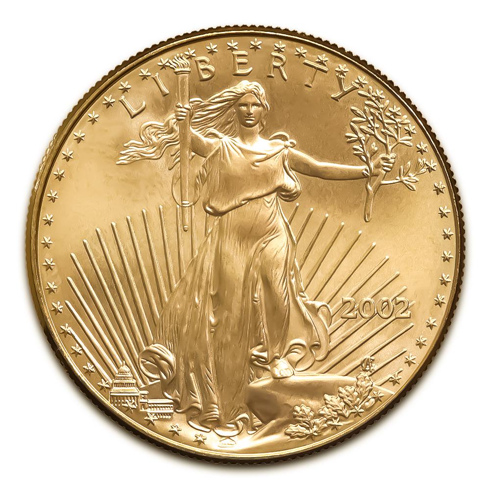 2002 American Gold Eagle 1/4 oz Uncirculated