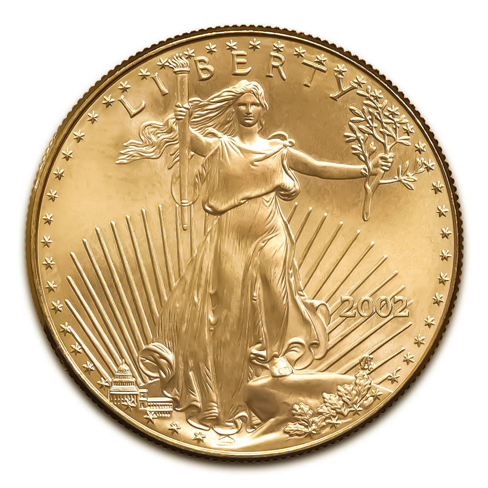 2002 American Gold Eagle 1/2 oz Uncirculated
