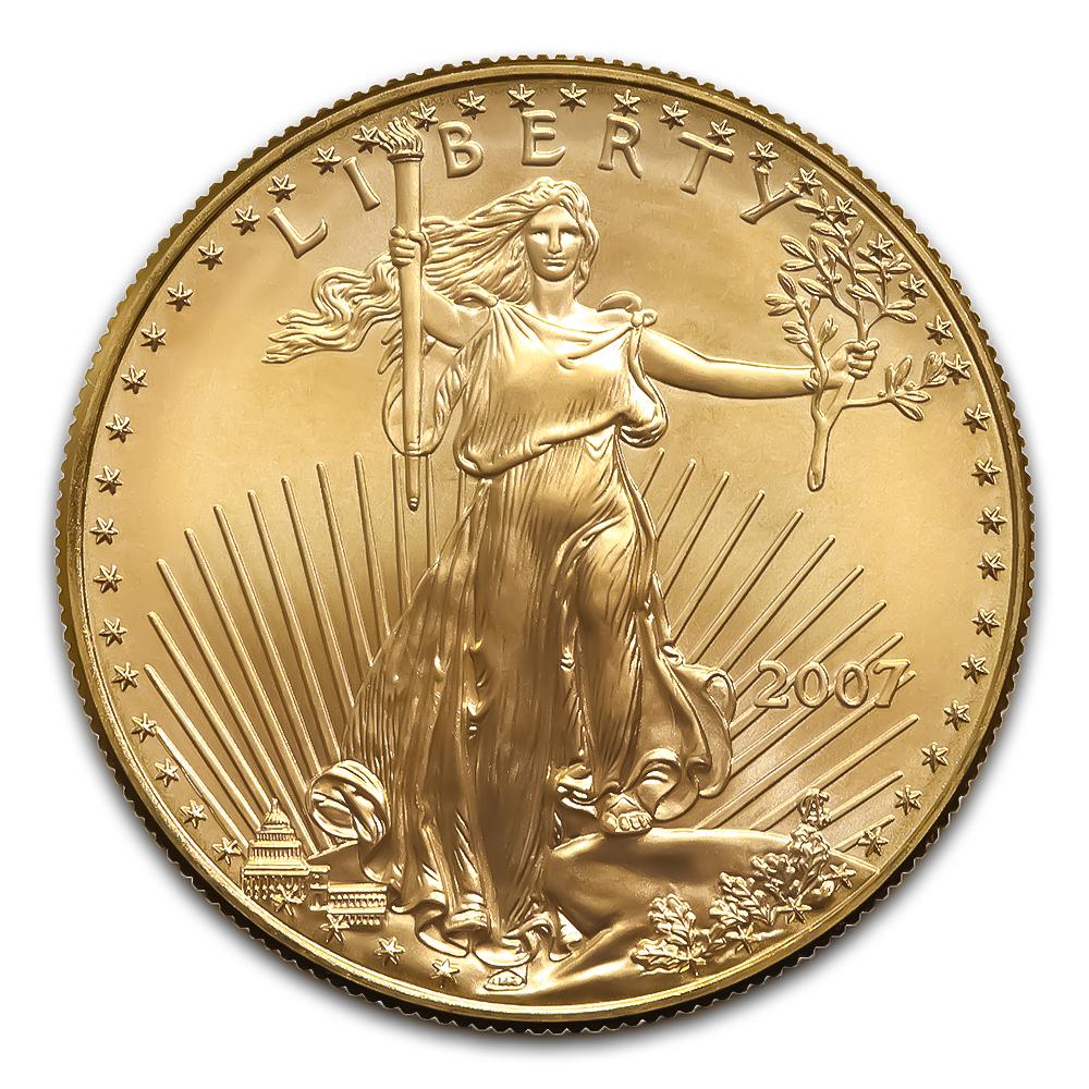 2007 American Gold Eagle 1/2 oz Uncirculated