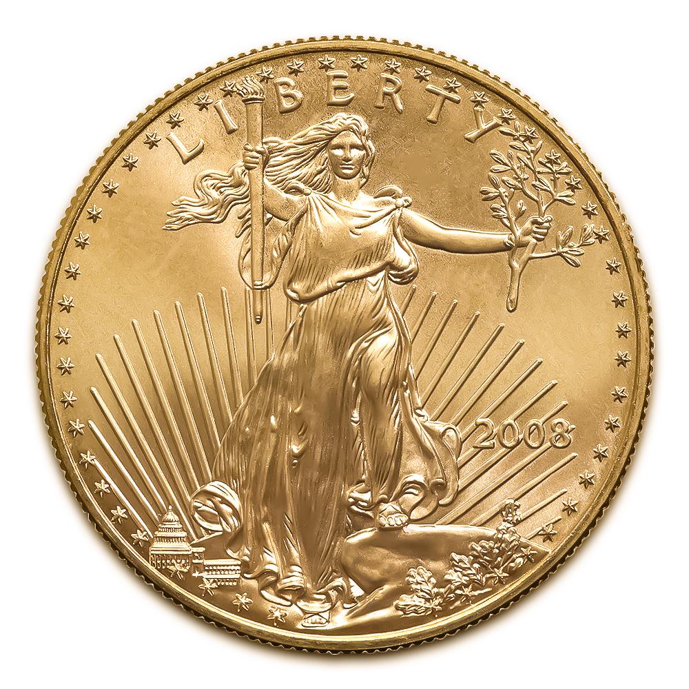 2008 American Gold Eagle 1/4 oz Uncirculated