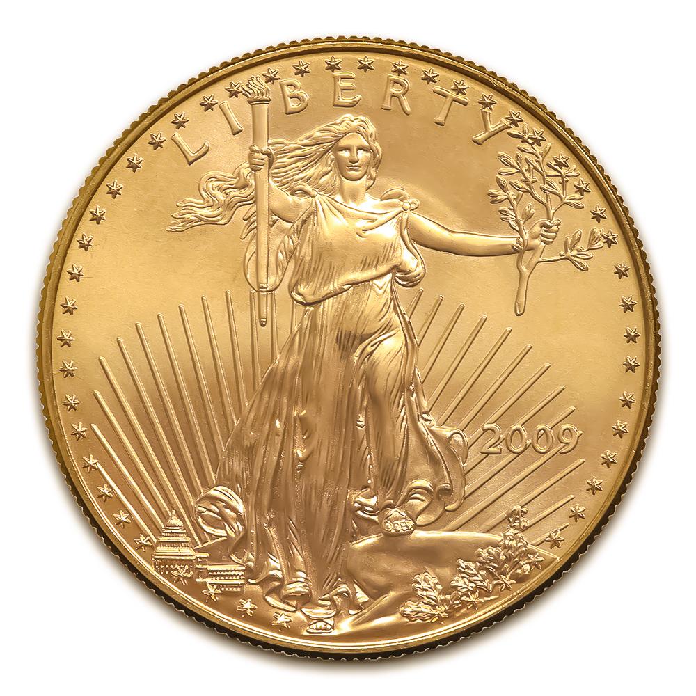 2009 American Gold Eagle 1/2 oz Uncirculated