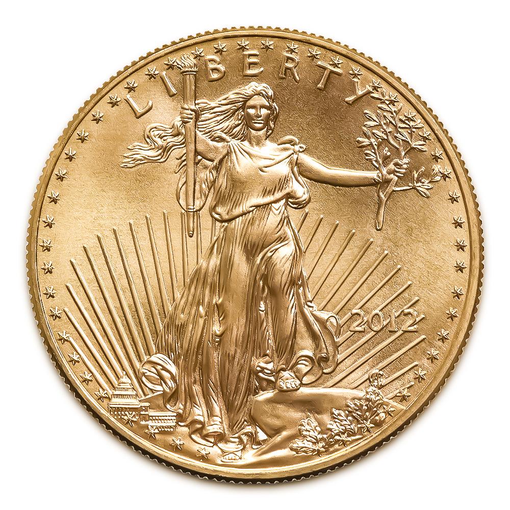 2012 American Gold Eagle 1/2 oz Uncirculated