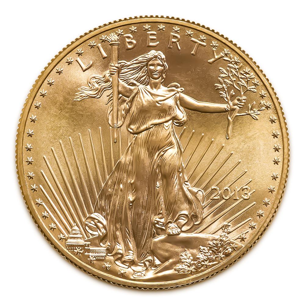 2013 American Gold Eagle 1/2 oz Uncirculated