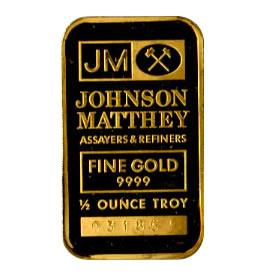 Half Ounce Gold Bar - Random Manufacturer