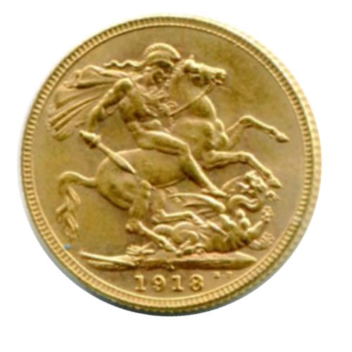 India gold sovereign 1918
