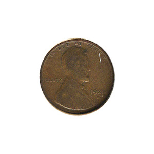 Lincoln Cent G-VG 1920-D