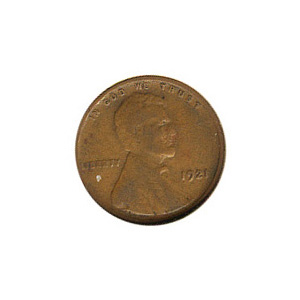 Lincoln Cent G-VG 1921