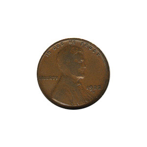 Lincoln Cent G-VG 1922-D