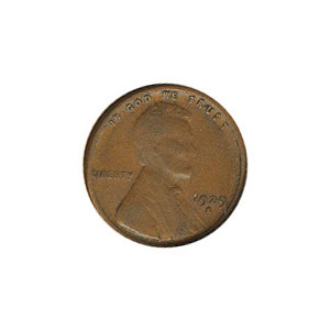 Lincoln Cent G-VG 1929-S