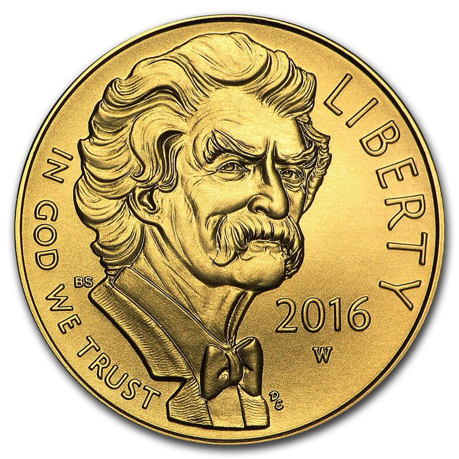 Gold $5 Commemorative 2016-W Mark Twain Uncirculated