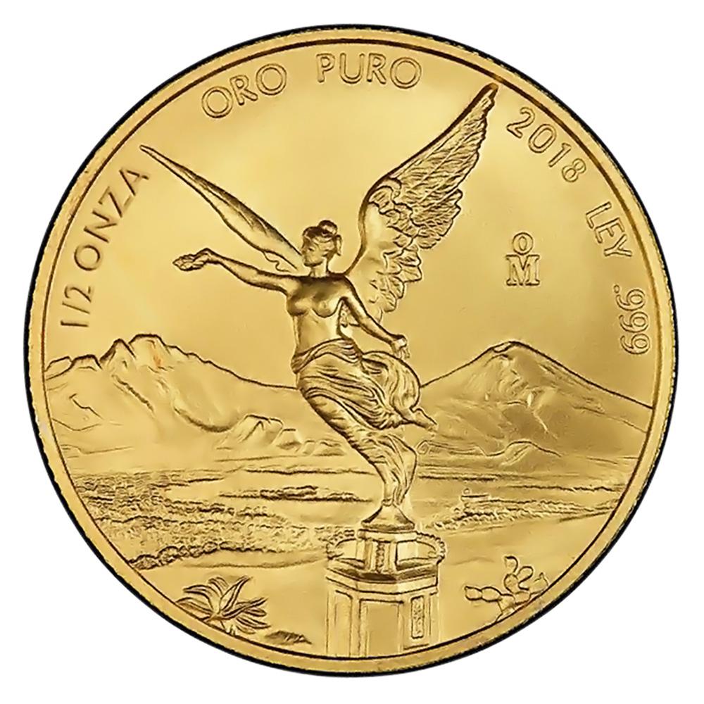 Mexico Gold Libertad Half Onza 2018 BU