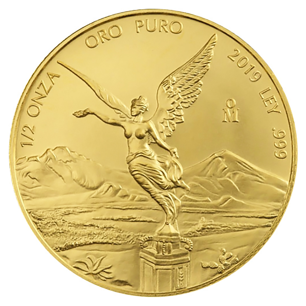 Mexico Gold Libertad Half Onza 2019 BU