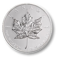 Canada One Ounce Palladium Maple Leaf (Dates of our Choice)