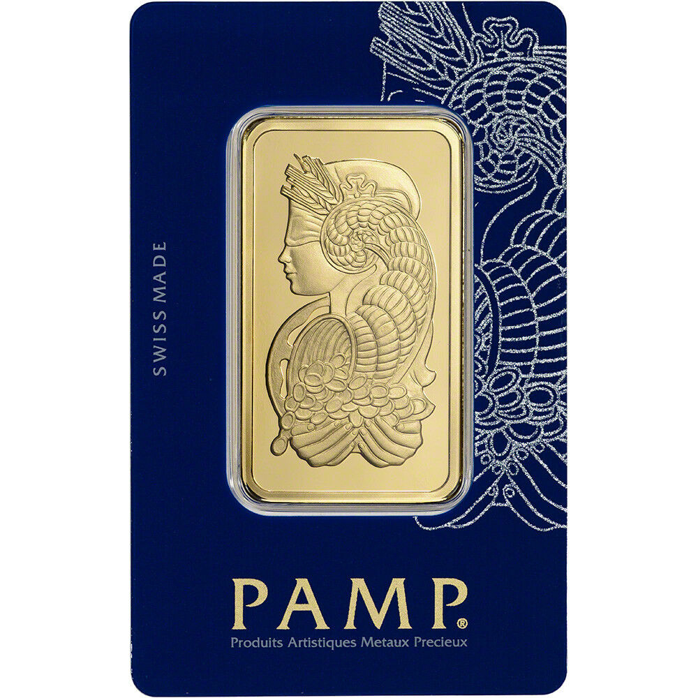 PAMP Suisse 50 Gram Gold Bar Fortuna Design