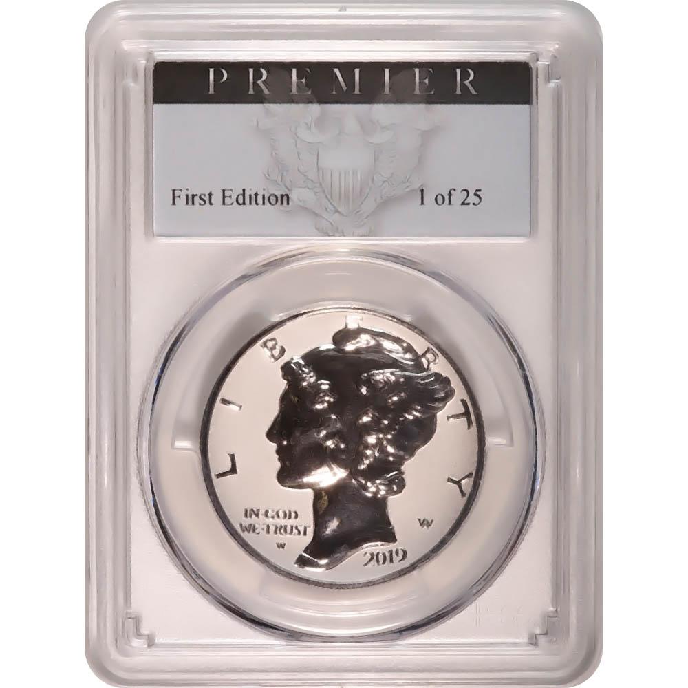 Certified 2019-W 1 oz Palladium American Eagle PR70 PCGS Premier Label