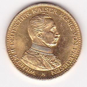 Prussia 20 mark gold 1914