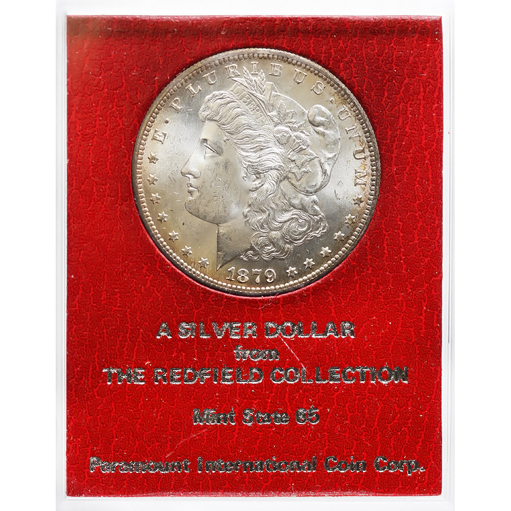 Certified Morgan Silver Dollar 1879-S Choice BU Redfield Collection