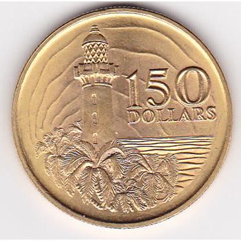 Singapore $150 Gold 1969 150th Anniversary UNC