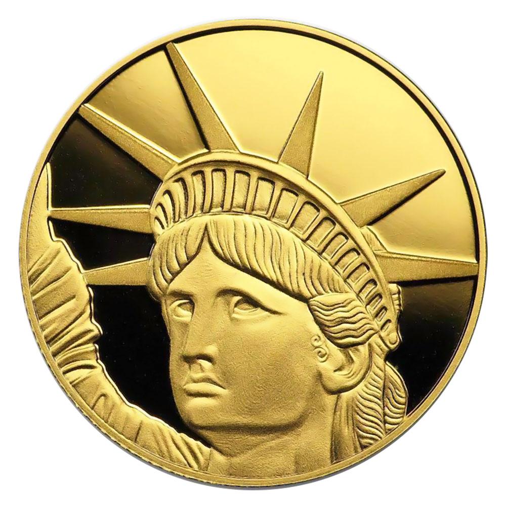 Solomon Islands $25 Gold PF 2019 Statue of Liberty