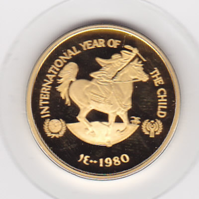 United Arab Emirates 750 dirhams gold 1980 Year of the Child
