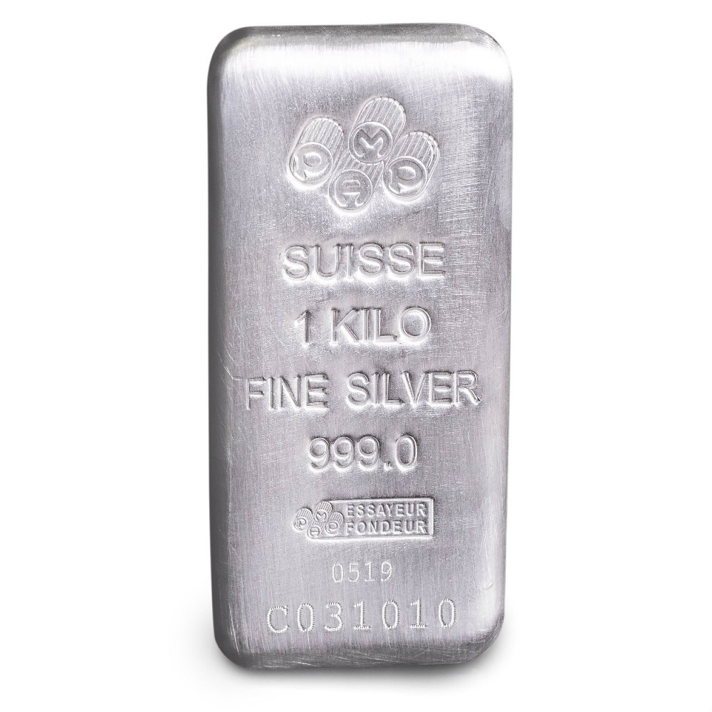 PAMP Suisse Silver Bar 1 Kilo - Cast