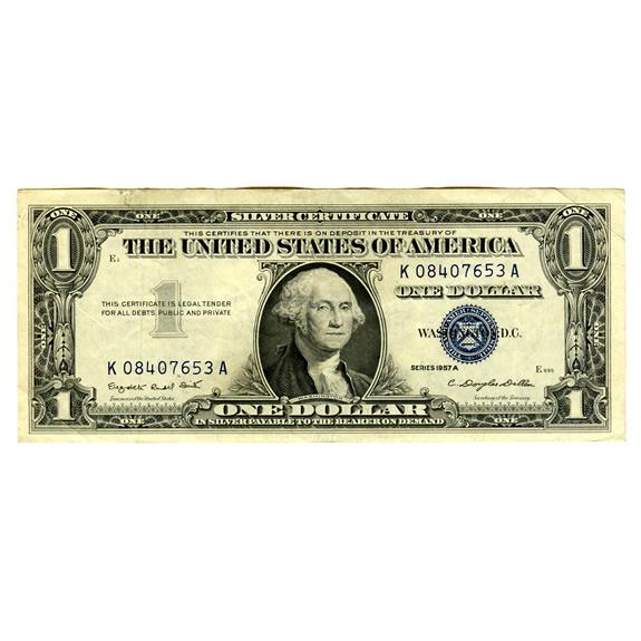 Silver Certificate $1 Note 1935-57 XF-AU