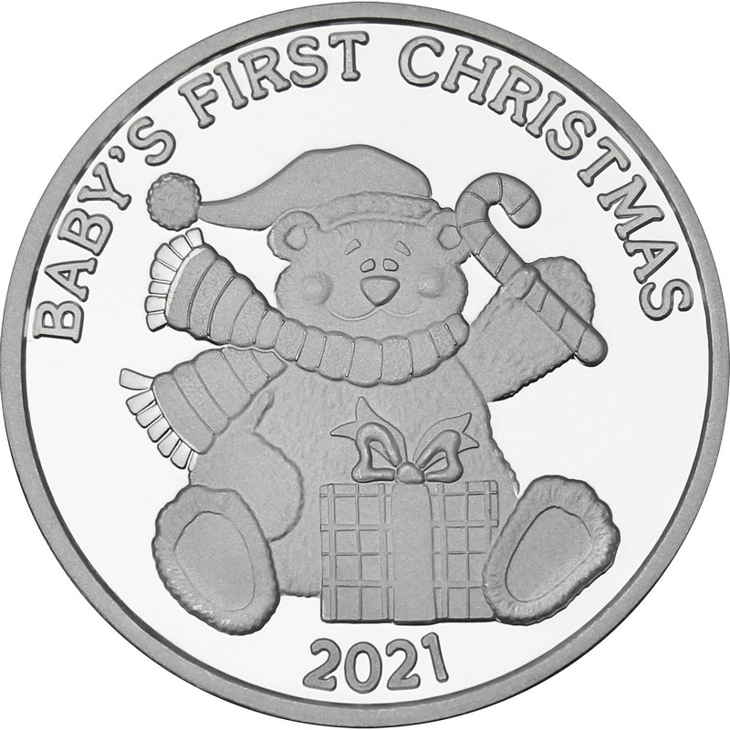 2021 Baby's First Christmas 1oz Silver Round (X-14)