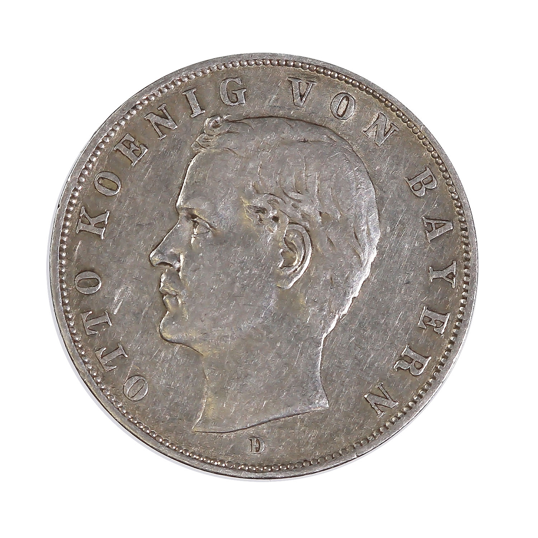 Germany Bavaria 3 Mark Silver 1908-1913